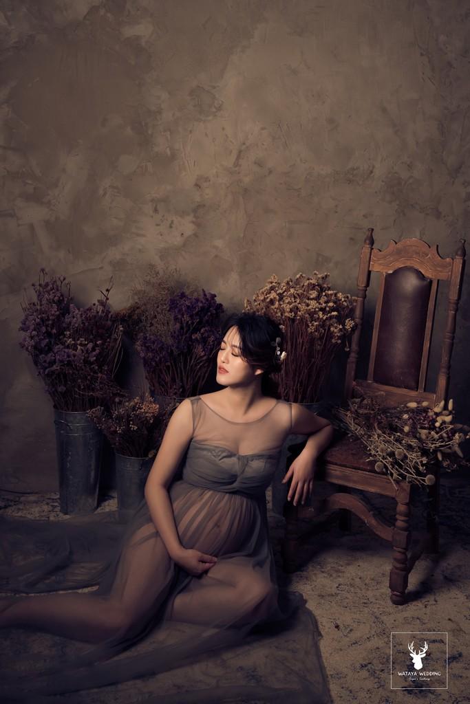 孕婦寫真作品-古典之美媽咪